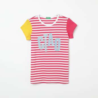 UNITED COLORS OF BENETTON Striped Cap Sleeves T-shirt