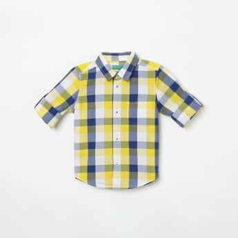 UNITED COLORS OF BENETTON Checked Full Sleeves Shirt