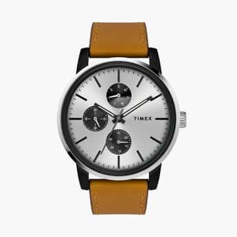 TIMEX Men Multifunction Watch with Leather Strap - TWEG18901