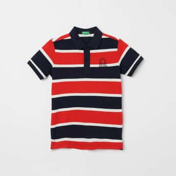 UNITED COLORS OF BENETTON Striped Polo T-shirt