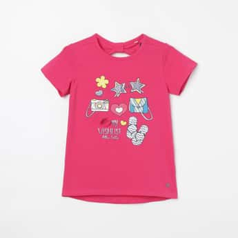 ALLEN SOLLY Printed Short Sleeves T-shirt
