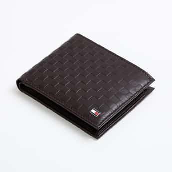 TOMMY HILFIGER Men Genuine Leather Basket Weave Wallet