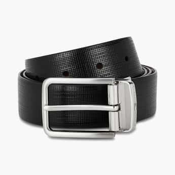 TOMMY HILFIGER Genuine Leather Textured Formal Belt