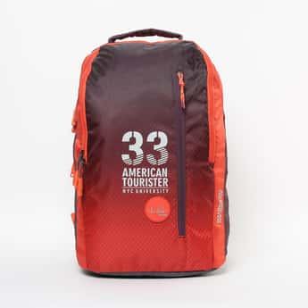 AMERICAN TOURISTER Printed Zip-Closure Backpack