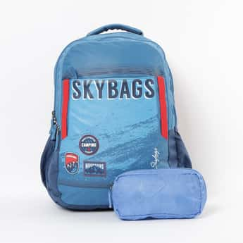 SKYBAG Astro Extra 03 Printed Backpack with Pouch