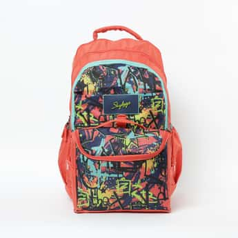 SKYBAG Astro Nxt 08 Printed Backpack with Lunch Bag