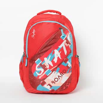 SKYBAGS Typographic Print Backpack