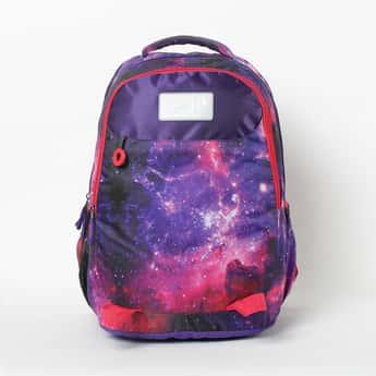 SKYBAG Printed Zip-Closure Backpack
