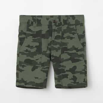 UNITED COLORS OF BENETTON Camouflage Print City Shorts