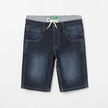 UNITED COLORS OF BENETTON Dark Washed Denim Shorts