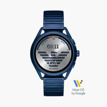 EMPORIO ARMANI Men Matteo Blue Smartwatch - ART5028