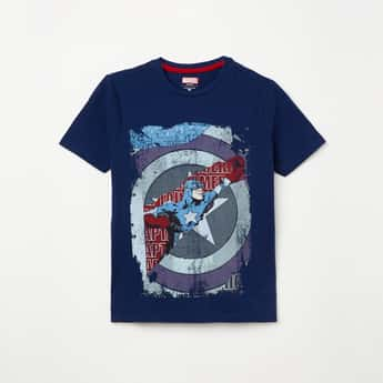 FAME FOREVER YOUNG Boys Graphic Print Crew Neck T-shirt