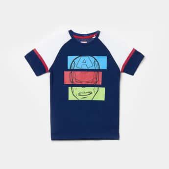 FAME FOREVER KIDS Boys Ironman Print T-shirt with Raglan Sleeves