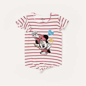 FAME FOREVER KIDS Girls Striped Round Neck T-shirt