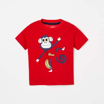 JUNIORS Boys Graphic Print Crew-Neck T-shirt