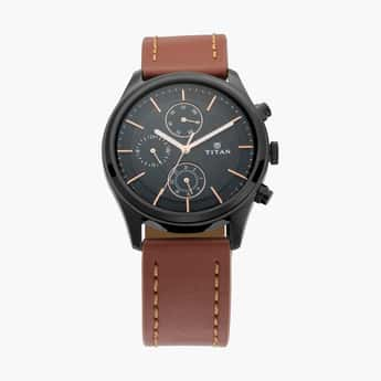 TITAN Men Analog Watch with Leather Strap - NM1805NL01