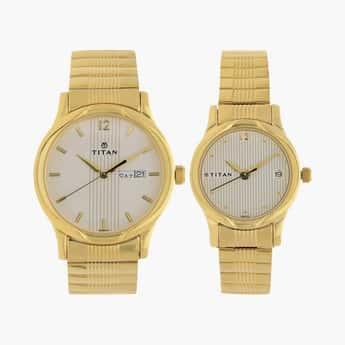 TITAN Water Resistant Couple Watch Set- NM15802490YM04