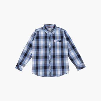LEE COOPER JUNIORS Boys Checked Full Sleeves Shirt