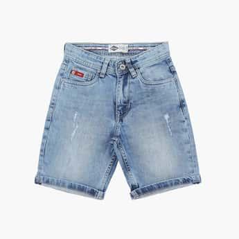 LEE COOPER JUNIORS Boys Washed Denim Shorts