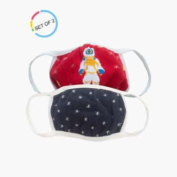 TONIQ KIDS Printed Reusable Face Mask - Pack of 2