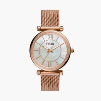 FOSSIL Carlie Women Analog Watch with Mesh Strap - ES4918
