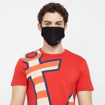 FAME FOREVER Men Typographic Print Reusable Mask