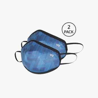 WILDCRAFT Unisex Printed Reusable Face Masks - Pack of 2