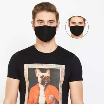 FAME FOREVER Men Anti-Bacterial Assorted Melt-Blown Masks - Pack of 2