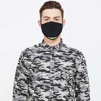 T-BASE Men Colourblocked 6-Layer Face Mask with Replaceable Filters