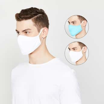 FAME FOREVER Men Textured Resuable Face Mask- Pack of 2