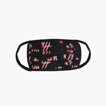 FREE AUTHORITY Men Printed 3-Layered Reusable Mask