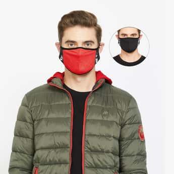 KAPPA Men Textured Assorted Anti-Bacterial Masks - Pack of 2
