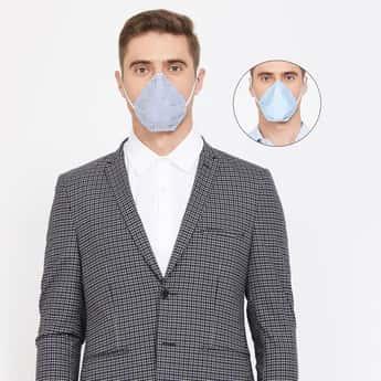 CODE Men Reversible 4-Layer Electrostatic Filteration Mask- Pack of 2