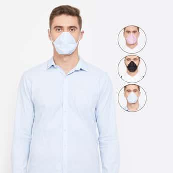 CODE Men Printed 4-Layered Anti-Viral Reusable Masks - Pack of 4 Pcs.