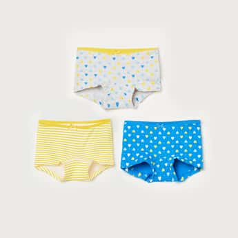 FAME FOREVER Girls Printed Briefs- Pack of 3