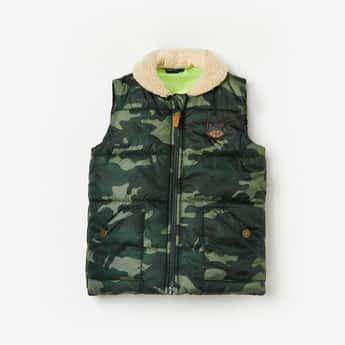 JUNIORS Boys Camouflage Print Puffer Jacket