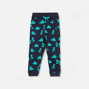 JUNIORS Boys Printed Elasticated Track Pants
