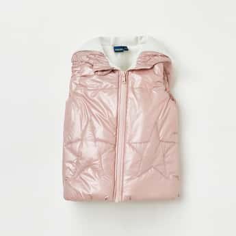 JUNIORS Girls Padded Hooded Gilet Jacket