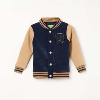 BOSSINI Boys Colourblock Varsity Jacket with Applique