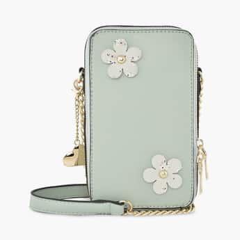TONIQ Women Floral Accent Boxy Sling Bag