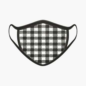 RAHO SAFE Men Checkered 2-Filter Face Mask