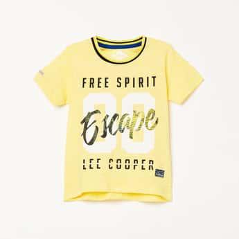 LEE COOPER JUNIORS Boys Typographic Print Short Sleeves T-shirt