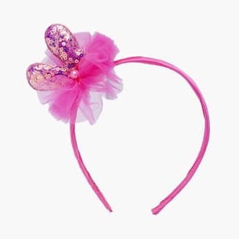 STOLN Girls Bunny Ear Accent Hairband