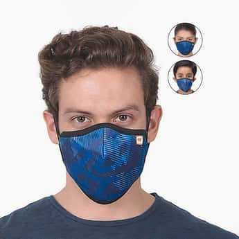 WILDCRAFT Unisex Printed SM-Face Mask- Pack of 3
