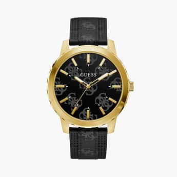 GUESS Men Analog Watch with Leather Strap - GW0201G1