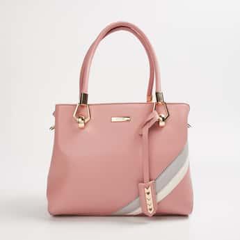 CODE Colourblocked Zip-Closure Handbag