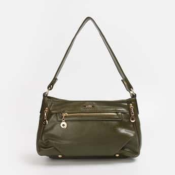 CODE Women Solid Zip-Closure Handbag