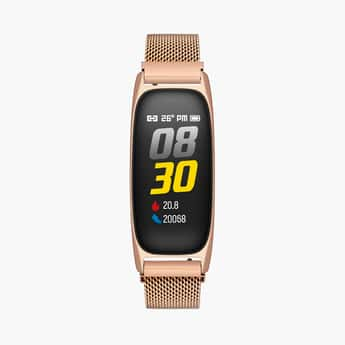 TIMEX Unisex Rose-Gold Fitness Band - TWTXB100T