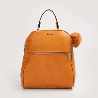 GINGER Women Solid Zip-Closure Backpack