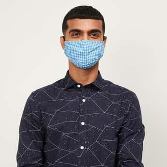 CODE Men Checked Heiq Viroblock Anti-Viral Face Mask